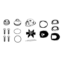 Water pump impeller kit-135/150/175/200/225/250/275 HP VERADO 2005. Original: 817275A09