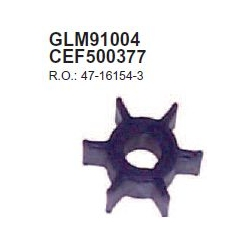Mercury impeller 3/3.5 HP, 2.5 HP 4-stroke, 4/5pk 2T and 4T. Replaces: Mercury and Tohatsu 369-65021-1 47-16154-3 (CEF500377).