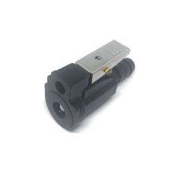 Yamaha connector (10mm slang) benzine koppeling. Te gebruiken voor tank male connector: GS310