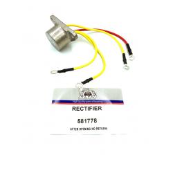 Johnson-Evinrude-Bombardier rectifier (Rectifier) 4-5 Amp 581778