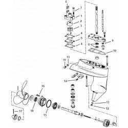 4 t/m 8 pk (1980+) Johnson Staartstuk Onderdelen