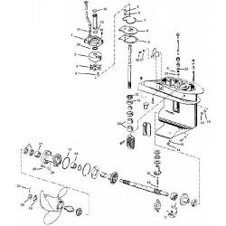 20, 30 & 35 pk (1980-2005) Johnson Staartstuk Onderdelen