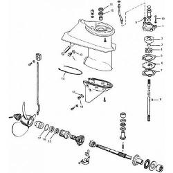 25 & 28 pk (1978-1997) Johnson Staartstuk Onderdelen