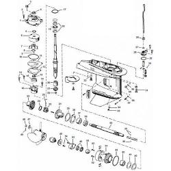 40 & 50 pk (1989 t/m 2005) Johnson Staartstuk Onderdelen
