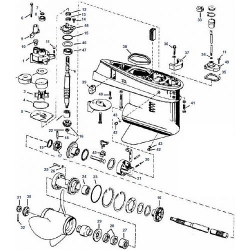 40 60 & 75 pk (1975-1988) Johnson Staartstuk Onderdelen