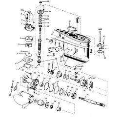 40, 60 & 75 pk (1975-2006) Johnson Staartstuk Onderdelen