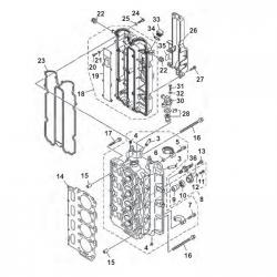 F80 F100 & F115 Cylinder Components