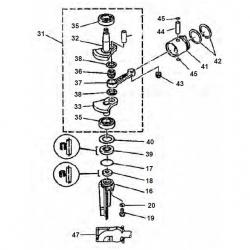 4 & 5 HP-Crankshaft Parts
