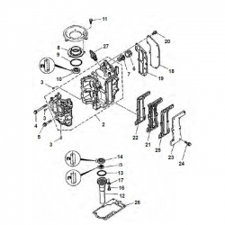 6 & 8 HP engine block Parts