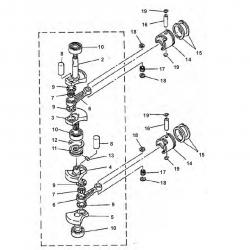 E8D & E8DMH-Crankshaft Parts