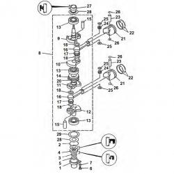 9.9 F 13.5 AMH & 15F-Crankshaft Parts