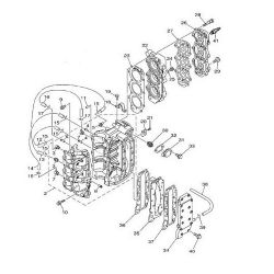 QEO 25Q/HP engine block Parts (3 cylinder)