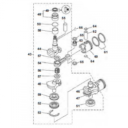 25 & 30 HP-Crankshaft parts (2 cylinder)