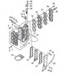 25 & 30 HP engine block Parts 1986-2013 (3 cylinder)