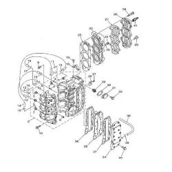 40A/C40/ELR - 40H/HE - 40MLHZ - 40O/OS - 40TLR Blok Onderdelen (3 cilinder)