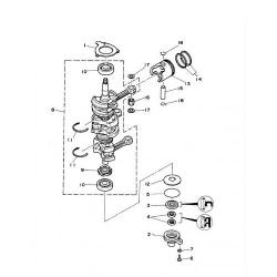 40A/C40/ELR - 40H/HE - 40MLHZ - 40O/OS - 40TLR Krukas Onderdelen (3 cil.)