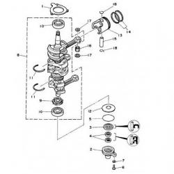50D/DE - 50H/HEDO/HETO/HMHD/HWHDLO/HRDO - 50MTO Krukas Onderdelen (3 cil.)