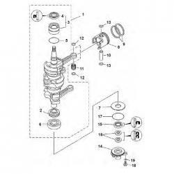 25 & 30 HP (3 becamecylinder) 1986-2013-Crankshaft Parts