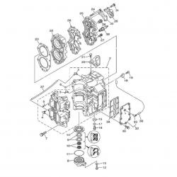 E40X 40XMH E40XMH 40XW & 40XWT - Motorblok Onderdelen