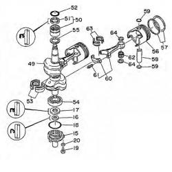 55 HP 48 &-Crankshaft Parts
