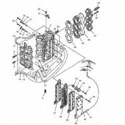 50 g 60-70 HP engine block Parts & (3 cylinder)