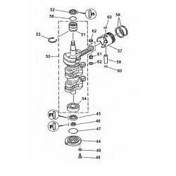 50 g 60-70 HP Crankshaft & Parts (3 cylinder)
