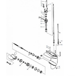 3.9, 4, 4.5, 6, 7.5 & 9.8 pk Mariner (1975-1986) - Staartstuk Onderdelen