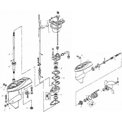 4 & 5 pk Mariner - Staartstuk Onderdelen