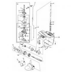 6, 8, 9.9, 10, 13.5 & 15 pk (1986-2005) Mercury - Staartstuk Onderdelen