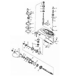 25 30 40 50 pk (Carb. 3-Cil.) (EFI) 40 Italy & 45 Bodensee (4-takt) Mercury Staartstuk Onderdelen