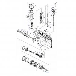 135 t/m 300 pk VERADO V4 & V6 (2006+) - Staartstuk Onderdelen