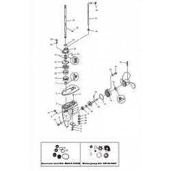 8 Bodensee (Inter), 9.9 (232 cc), 13.5 & 15 pk Mariner (4-takt) Staarstuk Onderdelen