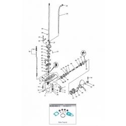 8 Bodensee, 9.9 (232 cc), 13.5 & 15 pk Mariner (4-takt) Staartstuk Onderdelen