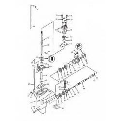 50 t/m 150 pk (1987+) Mariner (Schakelhuis Ø 107.95 mm) Big Foot (4-takt) Staartstuk Onderdelen