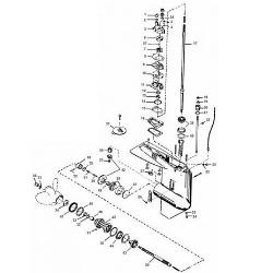 35 t/m 70 pk (2, 3 & 4 Cilinder) Mercury (2-takt) Staartstuk Onderdelen