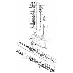 65 t/m 225 pk 2.0, 2.4, 2.5L / V6 L4, L6 Mercury (2-takt) Staartstuk onderdelen
