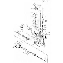 18XD, 20 & 25 pk (2-takt) Mariner (1984-2005) Staartstuk Onderdelen