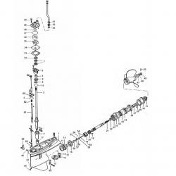 Staartstuk Onderdelen - Yamaha FL/F200 - FL/F225  & FL/F250 (V6 2.6L)