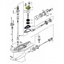 Staartstuk Onderdelen - Yamaha FL/F225 & FL/F250
