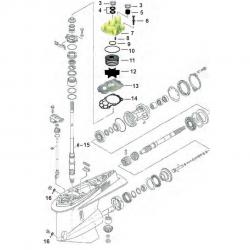 Staartstuk Onderdelen - Yamaha F225 - F250 & F300 (V6)