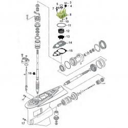 Staartstuk Onderdelen - Yamaha F300 & F350 (V8)