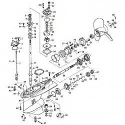 225FET - 250AET/BET & L250AET Yamaha - Staartstuk Onderdelen