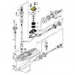 VZ200 - VZ225 - VZ250 & VZ300 Yamaha - Staartstuk Onderdelen