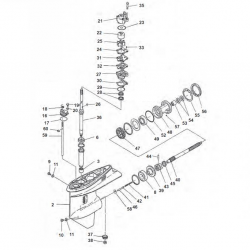 75CETOL/TLR(B)/C'08/TL - 80AEO/AETO/A/AEMTO 85 & 90A/AEO/TLR/AET/AET(O)/TR(H) Yamaha - Staartstuk Onderdelen