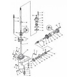 6 & 8 pk (Type B) & E8D - E8DMH Yamaha - Staartstuk Onderdelen