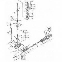 9.9D & 15D Yamaha - Staartstuk Onderdelen