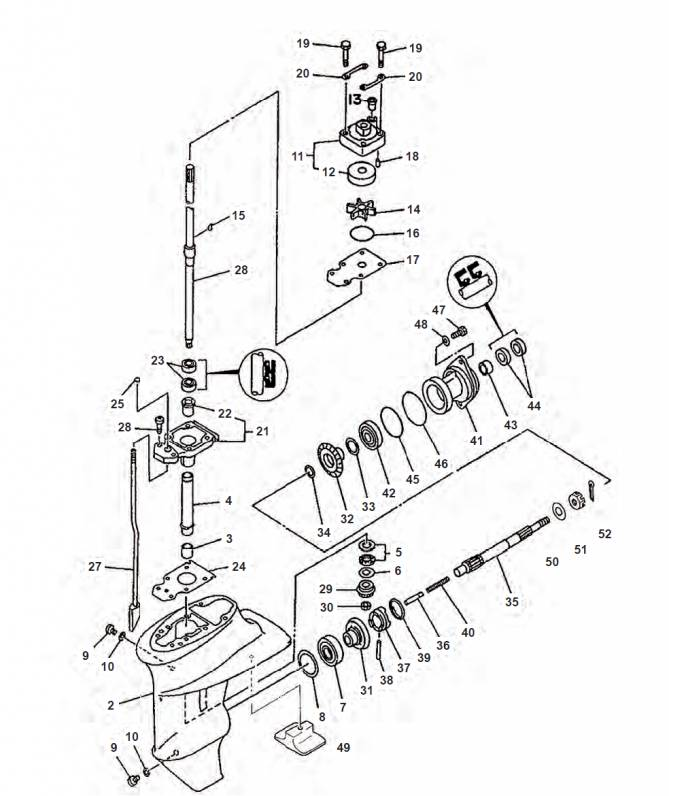 Yamaha Tail Piece Parts 9 9 C F Fmh Msh Mh Mhh 13 5 Amh 15 Fe Fmh F