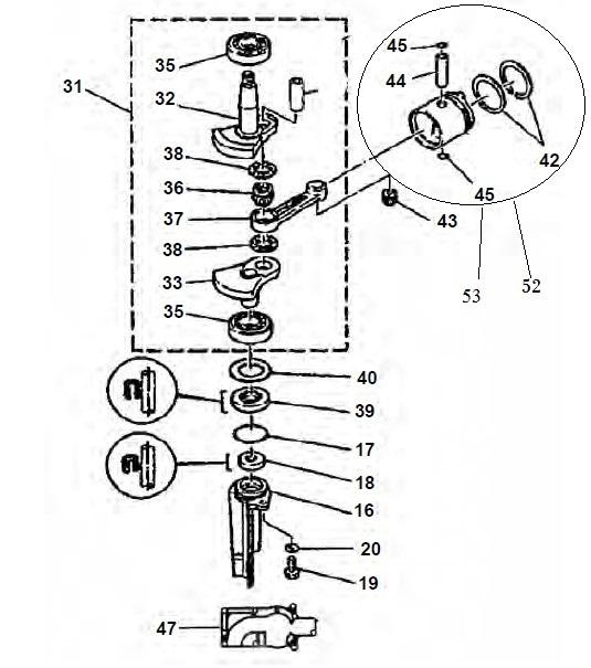 4 5 Hp Crankshaft Parts